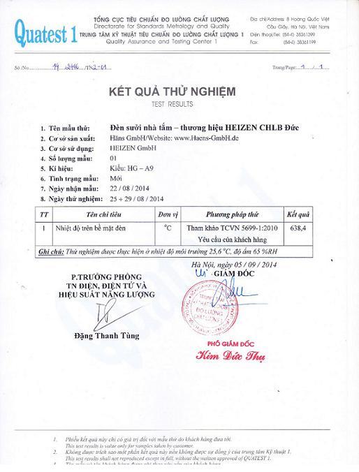chung chi chat luong den suoi nha tam Heizen