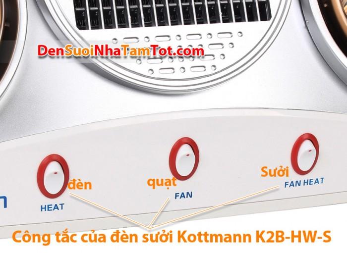 Công tắc của đèn sưởi kottmann-k2b-hw-s