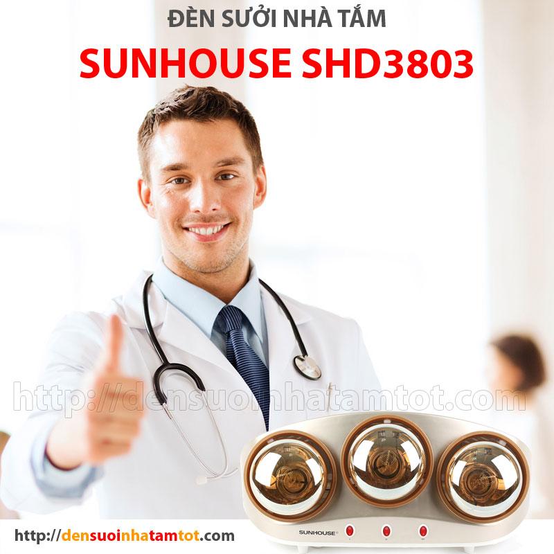 Đèn sưởi ấm nhà tắm Sunhouse SHD3803 được tin dùng