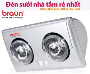 Đèn sưởi nhà tắm Braun BU02 - nhìn mặt trước