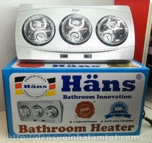 Đèn sưởi nhà tắm 3 bóng Hans H3B mới nhất năm 2015 - cập nhật ngày 22.12.2015