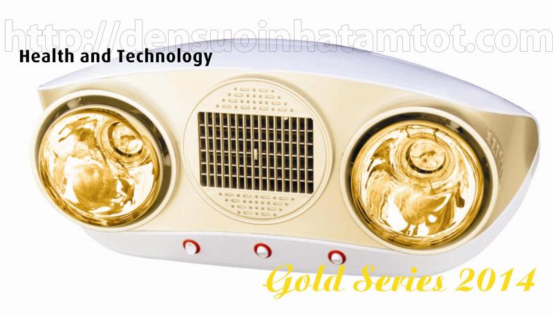 Đèn sưởi nhà tắm Braun Kohn KU02PG 2 bóng có quạt gió nóng
