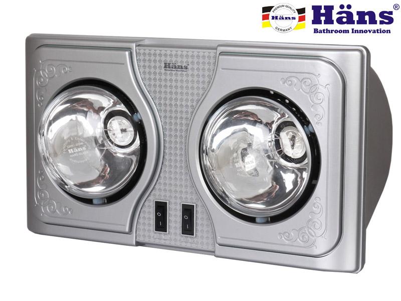 Đèn sưởi ấm nhà tắm Hans H2B mới nhất 2015