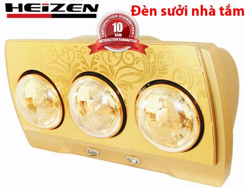 đèn sưởi nhà tắm hheizen 3 bóng vàng bảo hành 10 năm