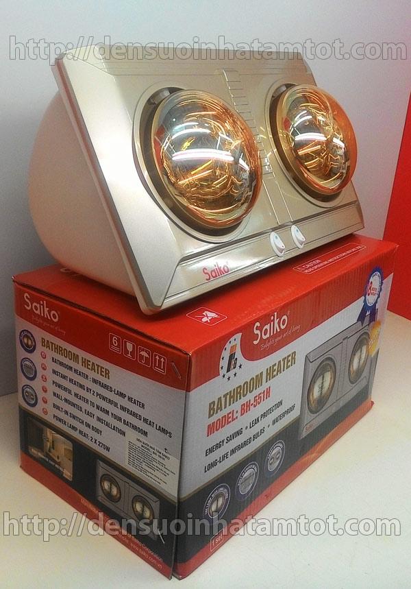 Đèn sưởi nhà tắm 2 bóng Saiko BH 551H