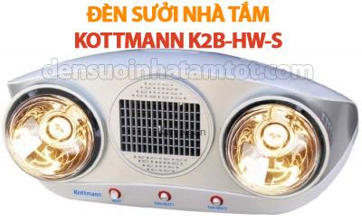Đèn sưởi nhà tắm kottman K2B-HW-S quạt thổi gió nóng