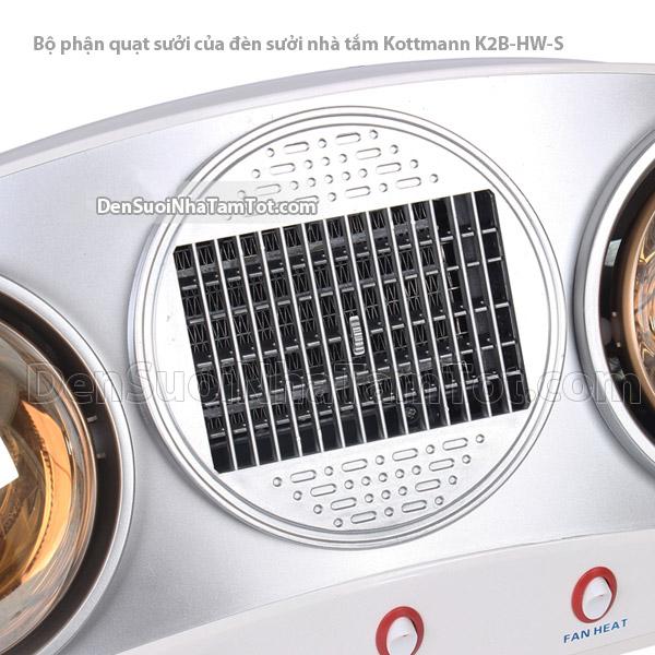 Bộ phận quạt sưởi của đèn sưởi phòng tắm k2b-hw-s