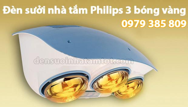 Đèn sưởi nhà tắm Philips 3 bóng vàng