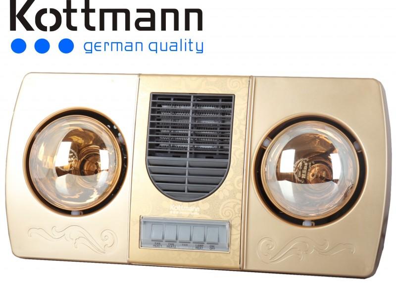 đèn sưởi nhà tắm Kottmann K2B-HW-G có quạt sưởi gió nóng