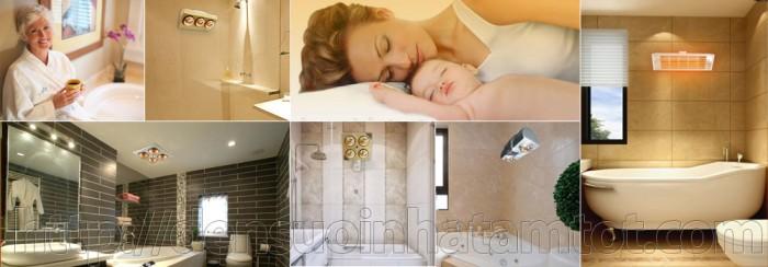 Đèn sưởi nhà tắm mang lại lợi ích tối đa cho cả gia đình