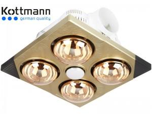 Đèn sưởi nhà tắm âm trần Kottmann K4B-T bóng vàng