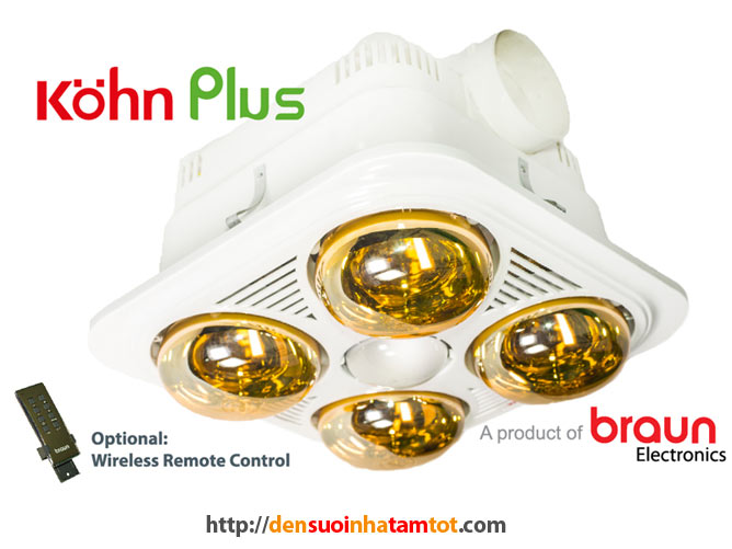 Đèn sưởi nhà tắm Braun Kohn BU04G Plus