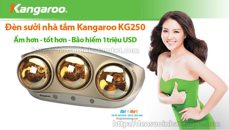 Đèn sưởi nhà tắm Kangaroo KG250 giá rẻ