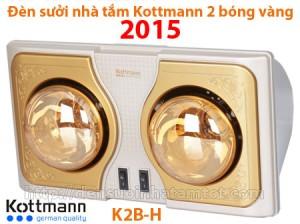 Đèn sưởi nhà tắm Kottmann 2 bóng vàng K2B-H năm 2015