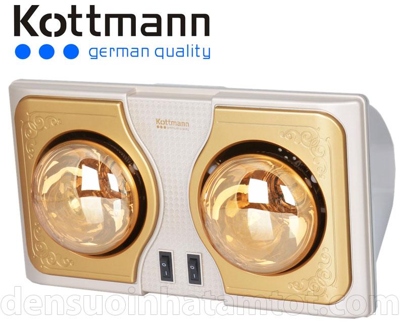 đèn sưởi nhà tắm Kottmann 2 bóng năm 2015 - Kottmann K2B - H