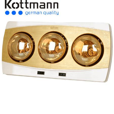 Đèn sưởi nhà tắm Kottmann K3B-H 3 bóng vàng giảm chói