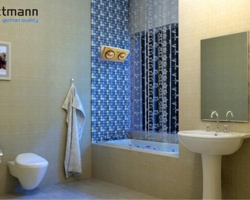 đèn sưởi nhà tắm Kottmann K2B-G dòng đèn vàng