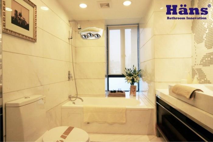 Đèn sưởi nhà tắm Hans thích hợp cho mọi không gian phòng tắm