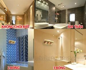 Nên mua đèn sưởi nhà tắm loại nào tốt