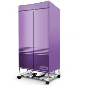 tủ sấy quần áo khung gấp bạt màu tím