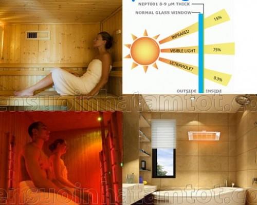 Tác dụng của đèn sưởi nhà tắm Kottmann