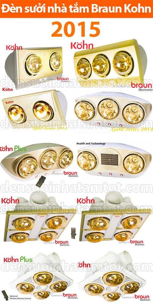 Đèn sưởi nhà tắm Braun - Kohn Kohn 2015