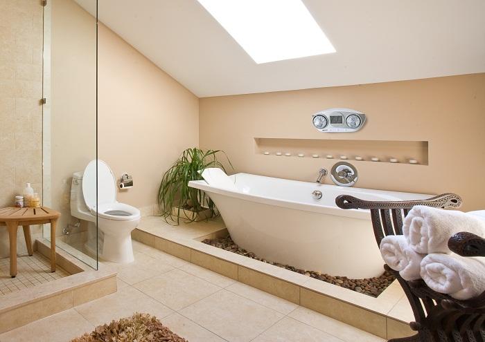 Đèn sưởi nhà tắm Hans 2 bòng phù hợp với không gian phòng tắm
