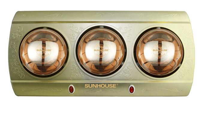 Đèn sưởi nhà tắm Sunhouse SHD3813 3 bóng vàng