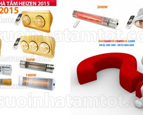 Giá đèn sưởi nhà tắm Heizen năm nay 2015 là bao nhiêu
