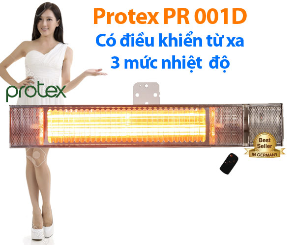Đèn sưởi không chói mắt Protex PR001D điều khiển 3 mức
