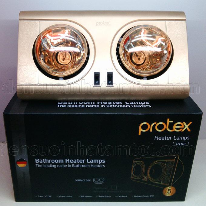 đèn sưởi nhà tắm 2 bóng protex PT02