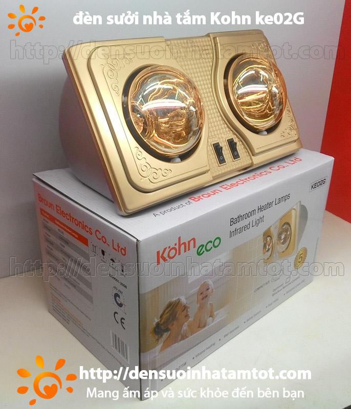 Đèn sưởi nhà tắm Kohn KE02G 2 bóng vàng