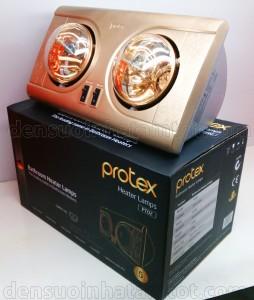 đèn sưởi nhà tắm protex pt02 2 bóng vàng