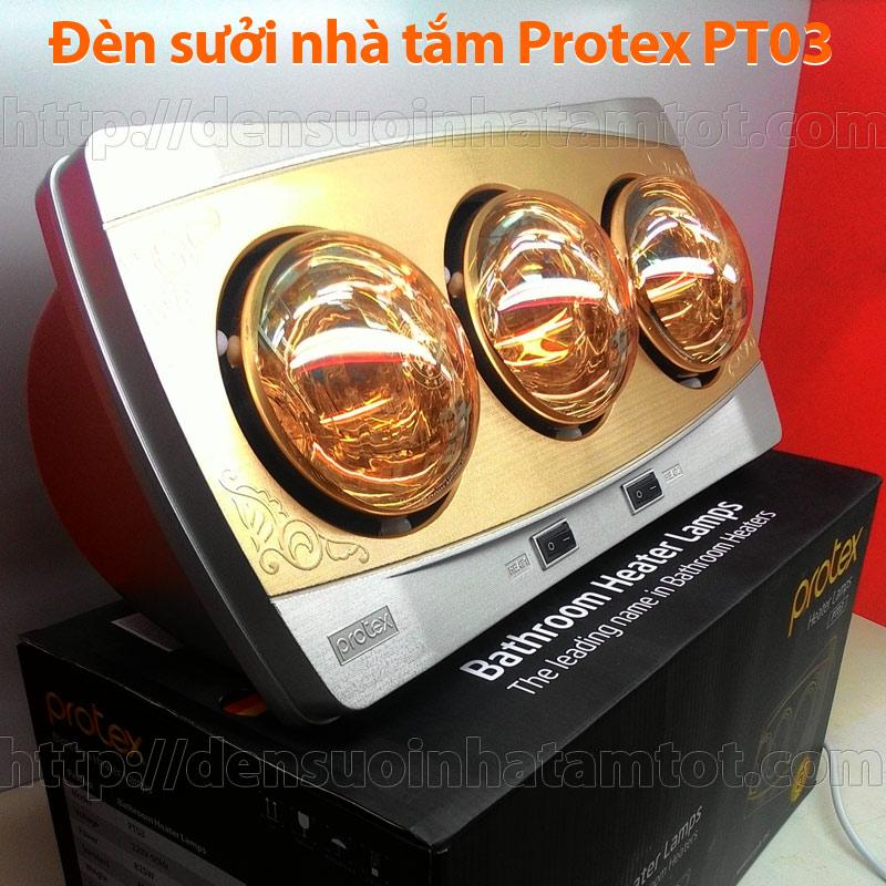 Đèn sưởi nhà tắm Protex PT03 3 bóng vàng loại tốt giá rẻ