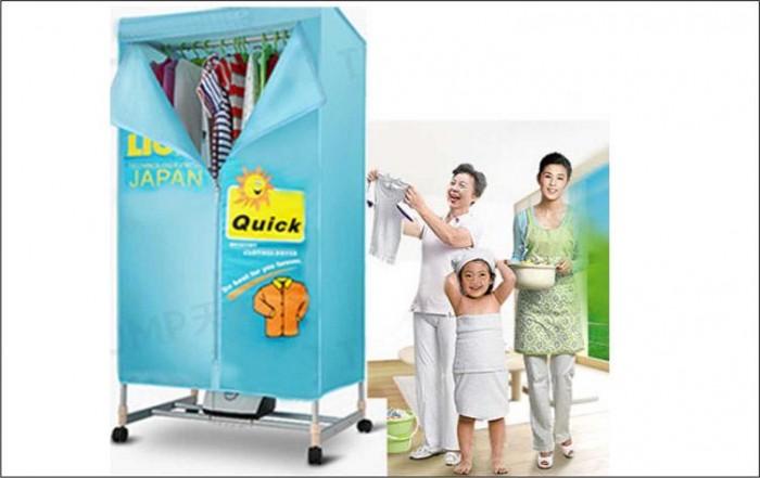 Các bước sử dụng tủ sấy quần áo đa năng