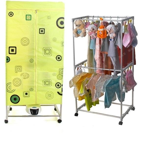 Tủ sấy quần áo Sanyo HD 882F vuông 2 tầng có khiển