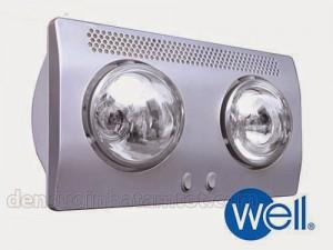 Đèn sưởi nhà tắm loại tốt Well BS-2WĐèn sưởi nhà tắm loại tốt Well BS-2W