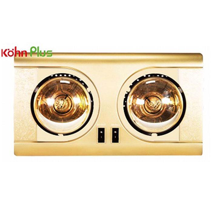 Đèn sưởi nhà tắm Kohn KF02G 2 bóng mạ vàng giảm chói chính hãng giá rẻ loại tốt công nghệ của Đức
