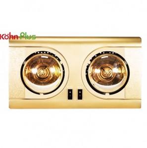 Đèn sưởi nhà tắm Kohn KF-02G 2 bóng mạ vàng