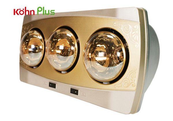 Đèn sưởi nhà tắm Kohn KF03G 3 bóng mạ vàng giảm chói chính hãng