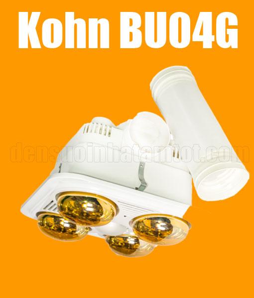 Đèn sưởi nhà tắm âm trần Kohn BU04G 4 bóng