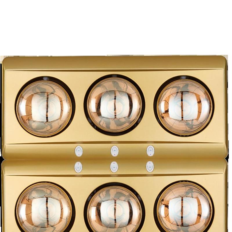 Đèn sưởi nhà tắm Kohn Eco KD03G 3 bóng mạ vàng