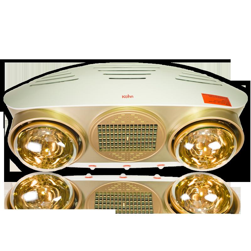 Đèn sưởi nhà tắm Kohn Luxury KU02PG 2 bóng mạ vàng