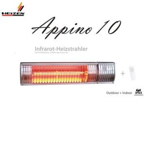 Đèn sưởi Heizen Appino10 không chói mắt có điều khiển
